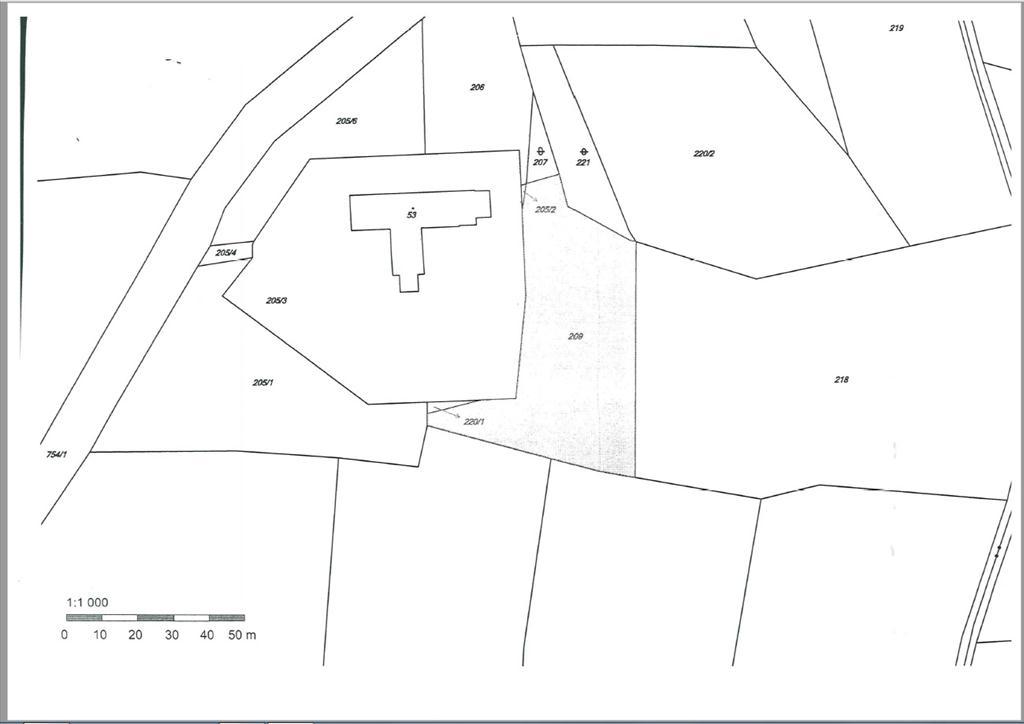 Parcela p.č. 209, LV  207  k.ú. Alberovice