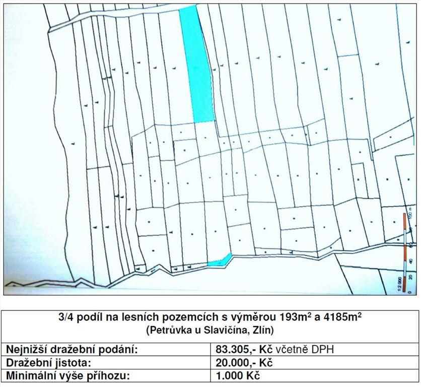 Územní pracoviště pro Prahu 10 oznamuje konání veřejné dražby pozemků