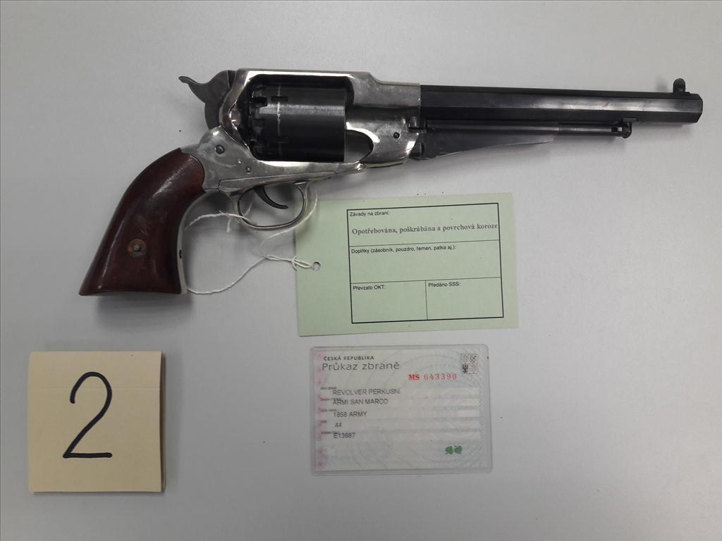 Revolver perkusní ARMY SAN MARCO, 1858 ARMY, ráže 44, výr č. E13687, zbraň kategorie C
