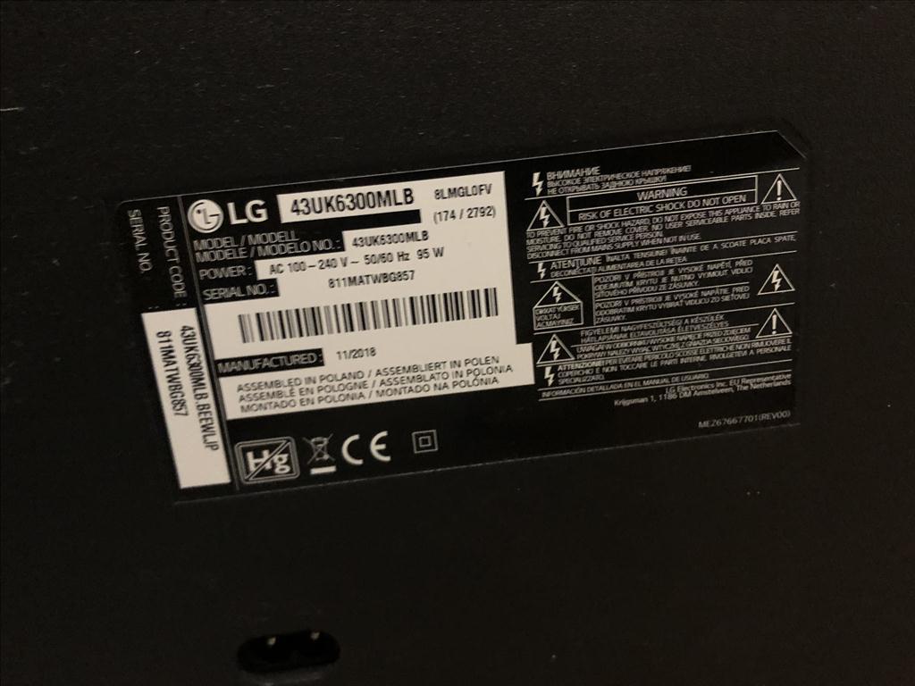 Televize zn. LG, 43UK6300MLB