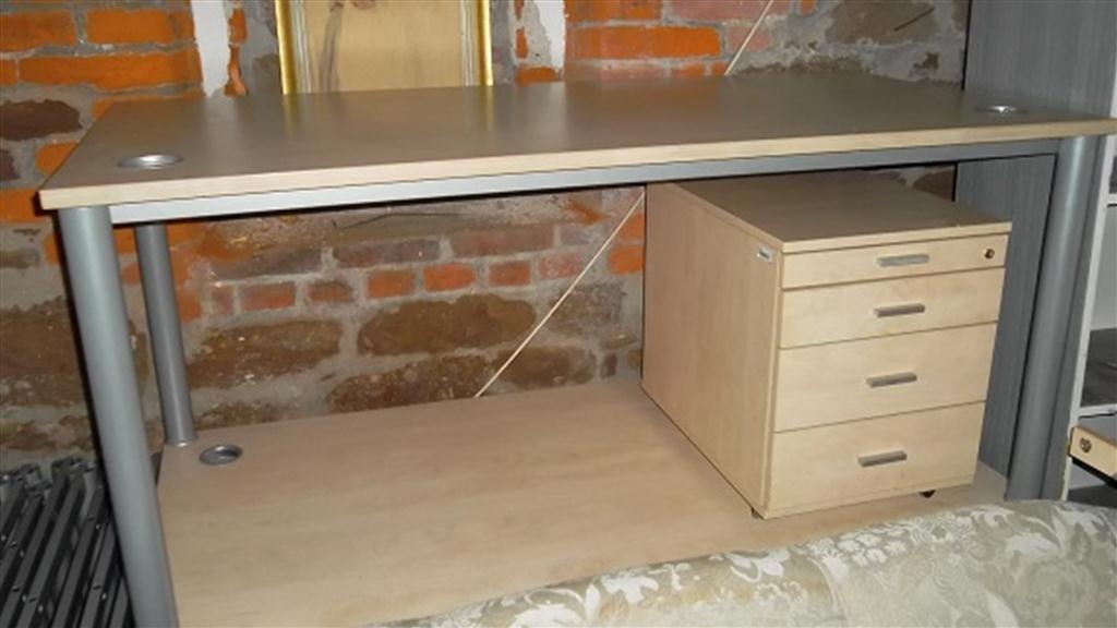 kancelářský stůl + kontejner se šuplíky