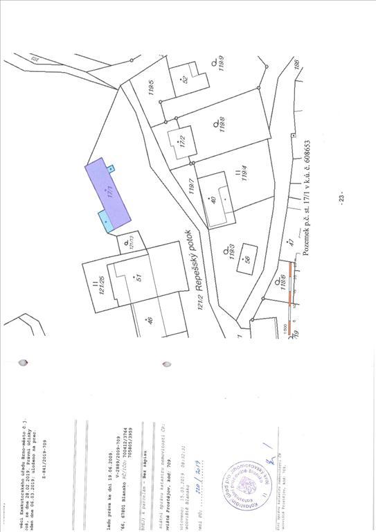 Územní pracoviště v Blansku oznamuje konání veřejné dražby domu/ů