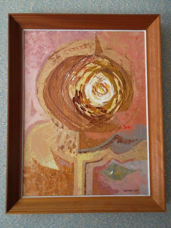 movitá věc (obraz), Pillmayer; abstraktně stylizovaný květ