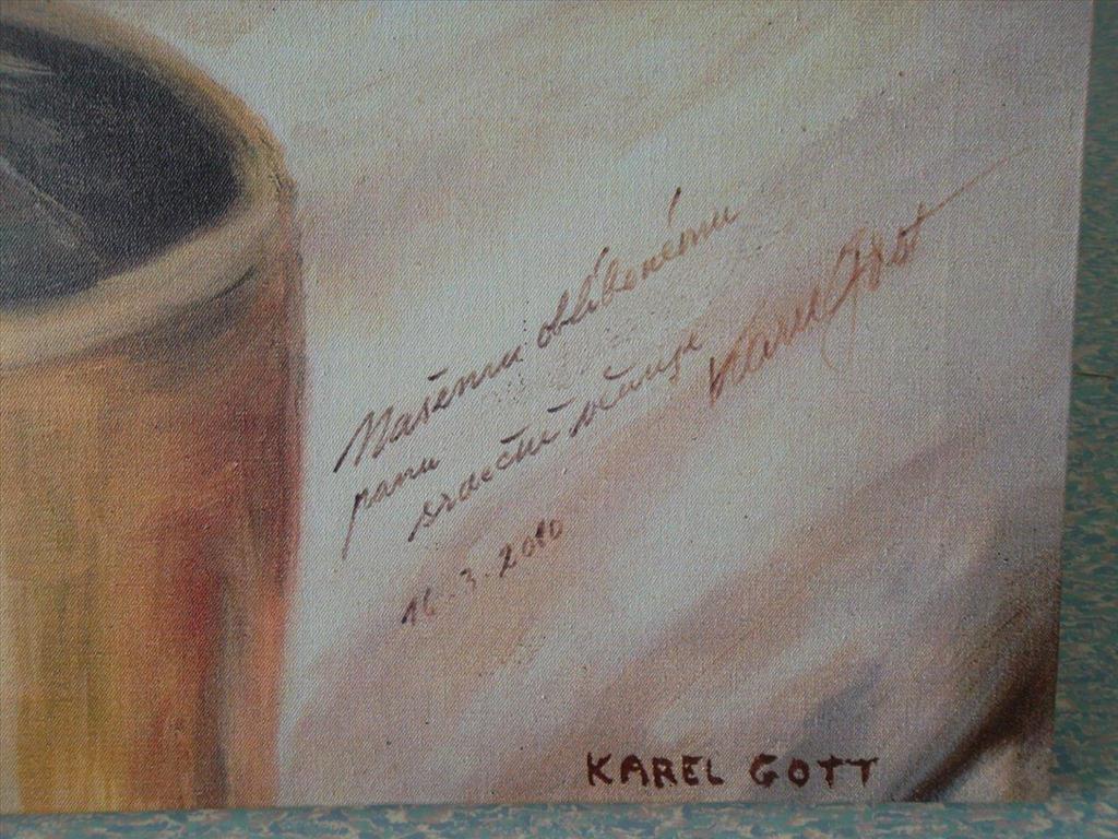 movitá věc - reprodukce obrazu Karla Gotta; název: Dej nám sen spánku
