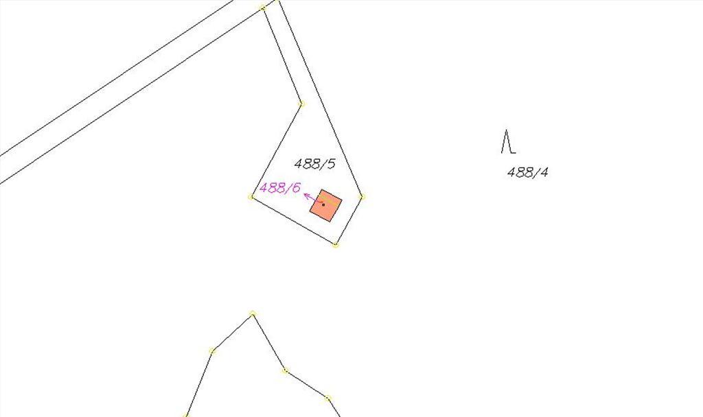 Mapa - pozemek 488/6