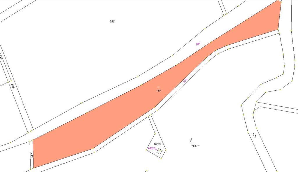 Mapa - pozemek 489
