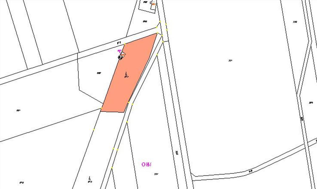 Mapa - pozemek 674