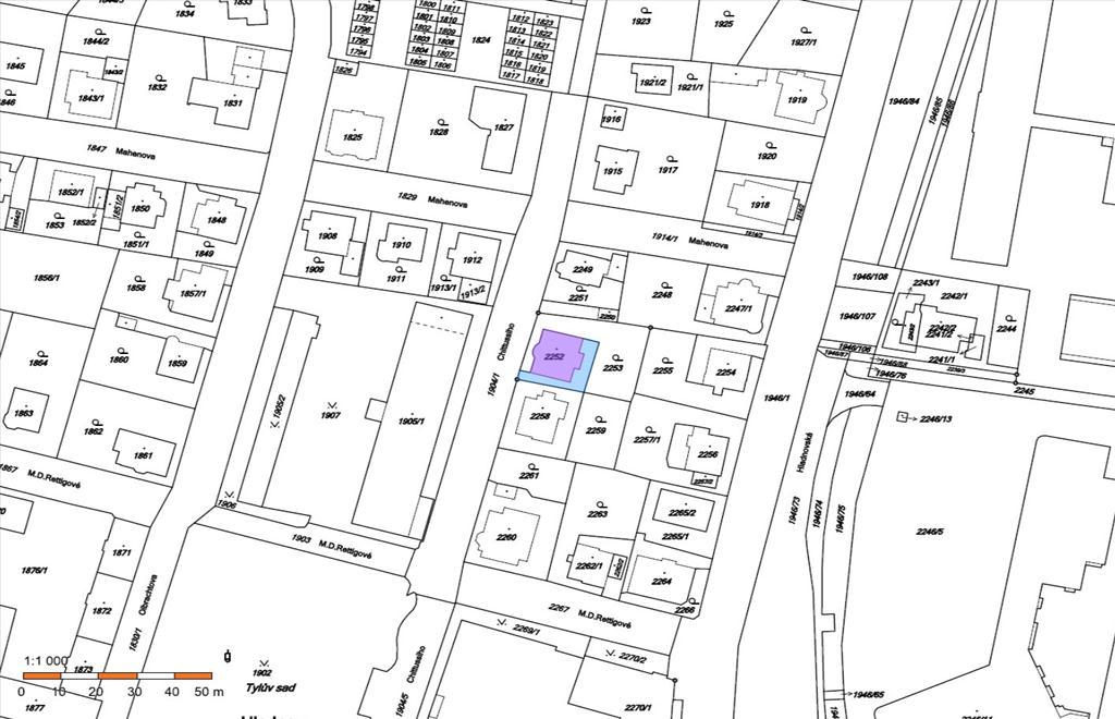 katastrální mapa 2252