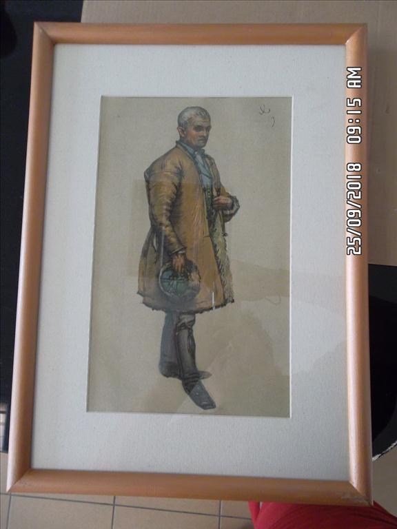 Obraz – Joža Uprka, Mužský kožuch
