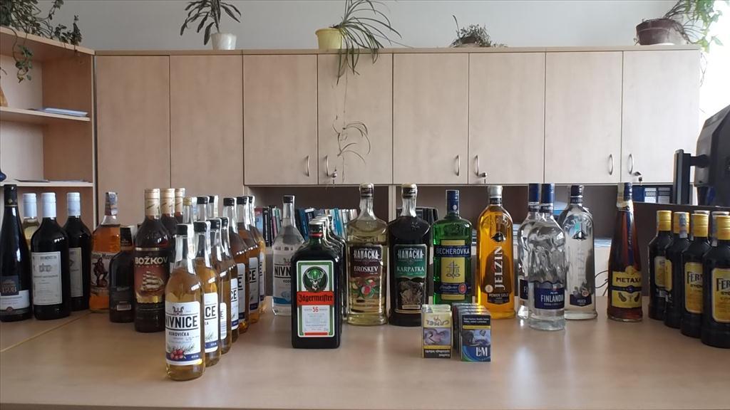 alkohol ve spotřebitelském balení
