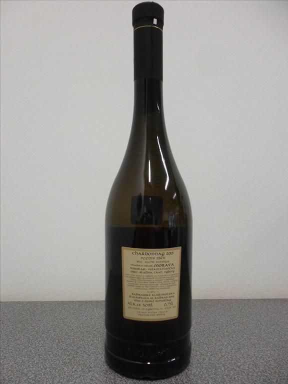 Chardonnay sur lie, barrigue 2015, 0,75 litr