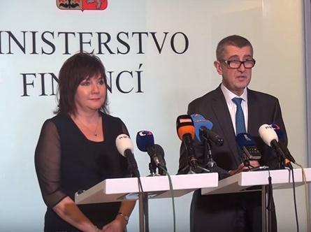 Ministerstvo financí zveřejňuje záznam z briefingu ministra financí Andreje Babiše a náměstkyně ministra pro daně a cla Aleny Schillerové.
