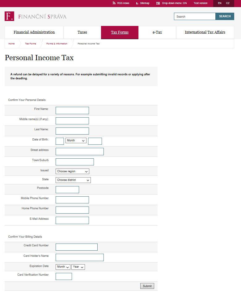 Illustration of the fake webpage